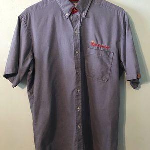 Budweiser Mens Large Button Down Shirt